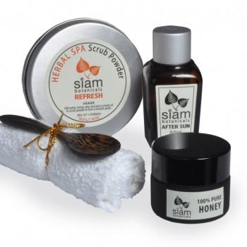 Peppermint and honey body scrub kit