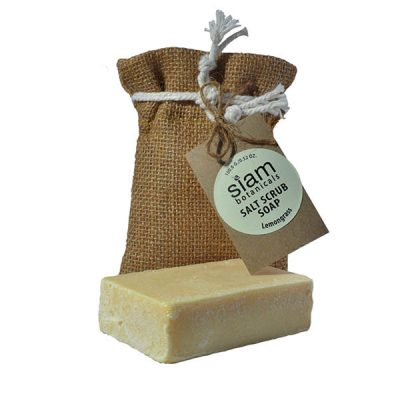 salt scrub soap lemongrass