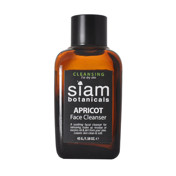Oil Cleansing: Siam Botanicals Apricot Face Cleansers are available for dry and oily skin