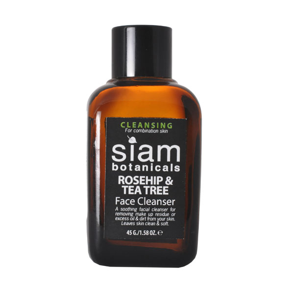 Oil cleansing: Siam Botanicals Rosehip & Tea Tree Face Cleanser