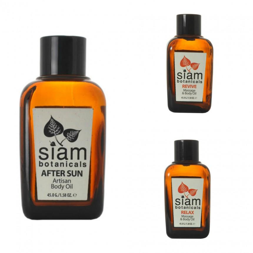 Massage oils with eucalyptus essential oil