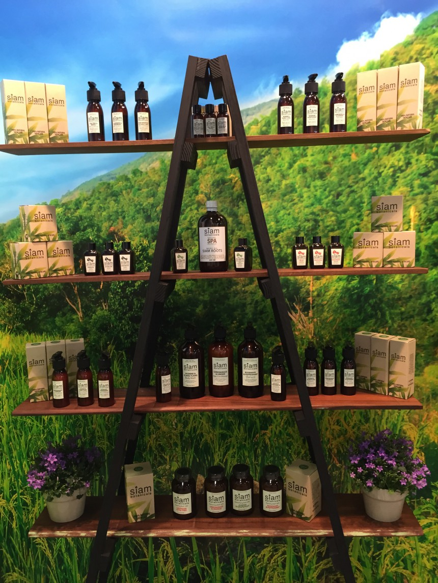 Cosmoprof 2015 - the Siam Botanicals stand (product close-up)