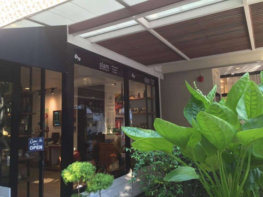 Siam Botanicals flagship store from the outside